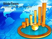 Business Graph With Globe Financial Strategy PowerPoint Templates PPT