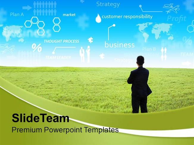 businessman with innovative ideas strategy powerpoint templates pp, Modern powerpoint