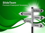 Investment Plans Future Signpost PowerPoint Templates PPT Themes And G