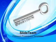 Key To Solution Business Concept PowerPoint Templates PPT Themes And G