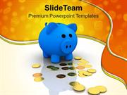 Piggy Bank Dollar Money Savings PowerPoint Templates PPT Themes And Gr