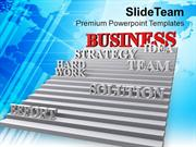 Stairway To Business Strategy Teamwork PowerPoint Templates PPT Themes