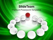 Standing Out Of The Crowd Business Concept PowerPoint Templates PPT Th