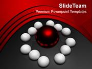 Team Around Leader Business Concept PowerPoint Templates PPT Themes An