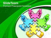 Team Efforts To Assemble Jigsaw Puzzles PowerPoint Templates PPT Theme