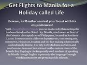 Get Flights to Manila for a Holiday called Life