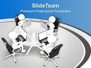 3d Business People Working On Laptop PowerPoint Templates PPT Backgrou