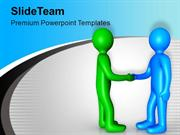 3d Business Team Leaders Handshake PowerPoint Templates PPT Background