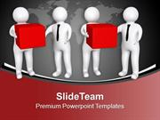 3d Men Giving Gift To Other Men PowerPoint Templates PPT Backgrounds F