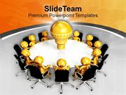 Business Meeting Innovation Idea Concept PowerPoint Templates PPT Back