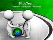 Business Men Closing Deal With A Handshake PowerPoint Templates PPT Ba