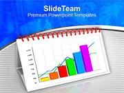 Calendar With Growth Chart Business PowerPoint Templates PPT Backgroun