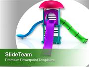 Colorful Playground Equipment For Children PowerPoint Templates PPT Ba