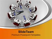 Conferance Over Business Time Concept PowerPoint Templates PPT Backgro