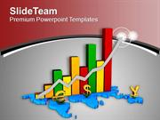 Image Of Colorful Business Growth Graph PowerPoint Templates PPT Backg