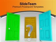 Three Doors To Future Choice PowerPoint Templates PPT Backgrounds For