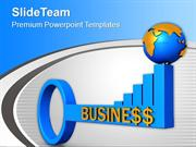 3d Image Of Key To Financial Growth PowerPoint Templates PPT Themes An