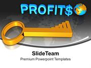 3d Image Of Profits Global Success Key PowerPoint Templates PPT Themes