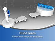 3d Man On Puzzle Path To Retirement PowerPoint Templates PPT Themes An