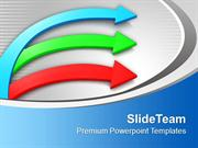 Business Colorful Arrows Teamwork Concept PowerPoint Templates PPT The