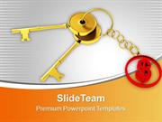 Golden Key And Dollar Keychain PowerPoint Templates PPT Themes And Gra
