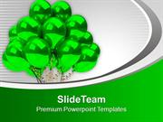 Green Birthday Balloons Party Theme PowerPoint Templates PPT Themes An