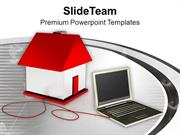 Laptop Smart Home Concept PowerPoint Templates PPT Themes And Graphics