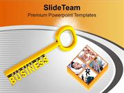 3d Business Key Success Plan PowerPoint Templates PPT Themes And Graph
