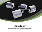 Dumbbells For Health Fitness PowerPoint Templates PPT Themes And Graph