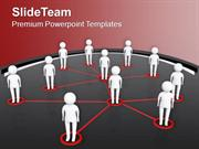 Networking Team Business Communication PowerPoint Templates PPT Themes