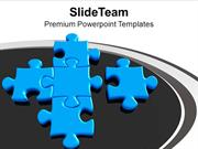 New Puzzles Joins Team To Form Teamwork PowerPoint Templates PPT Theme
