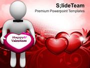 3d Man Offering Chocolate Treat PowerPoint Templates PPT Themes And Gr