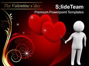 3d Man Pointing Love Hearts Valentines PowerPoint Templates PPT Themes