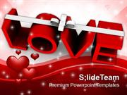 Love With Ribbon Celebration PowerPoint Templates PPT Themes And Graph