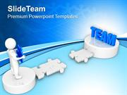3d Man Path To Team PowerPoint Templates PPT Themes And Graphics 0213