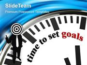 Clock With Words Time To Set Goal PowerPoint Templates PPT Themes And