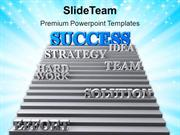 Image Of Stairway To Success PowerPoint Templates PPT Themes And Graph