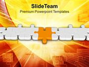 One Puzzle In Different Color From Others PowerPoint Templates PPT The