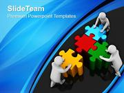 Team Effort To Assemble Puzzle PowerPoint Templates PPT Themes And Gra