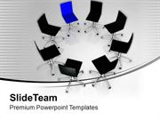 Chairs In Circle Leadership PowerPoint Templates PPT Themes And Graphi