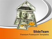 House Made With Dollar Bills Golden Key PowerPoint Templates PPT Theme