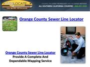 Orange County Sewer Line Locator