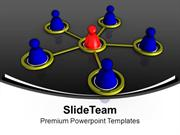 Interconnected Men With Leadership PowerPoint Templates PPT Themes And