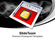 Internet Browser And RSS Symbol PowerPoint Templates PPT Themes And Gr