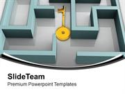 Key In Labyrinth Search Complex Situation PowerPoint Templates PPT The