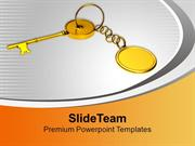 Key With Chain Security Achievement PowerPoint Templates PPT Themes An