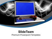 Laptop With Security Key Savings PowerPoint Templates PPT Themes And G