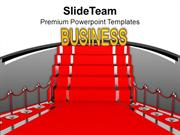 Red Carpet Displaying Business Prestige PowerPoint Templates PPT Theme