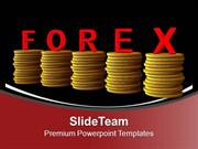 Stack Of Coins With Word Forex Wealth PowerPoint Templates PPT Themes