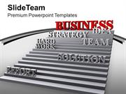 Strategy Effort Hard Work Leads Success PowerPoint Templates PPT Theme